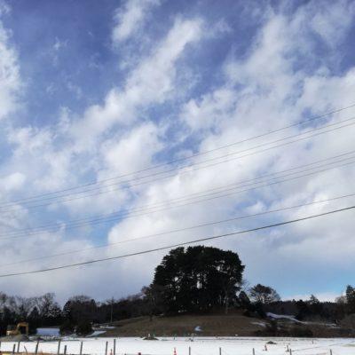 多賀城の空と跡地と雪と。