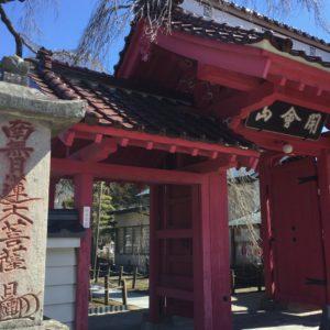 白河市指定天然記念物の《乙姫桜》がある妙関寺前。乙姫桜は推定樹齢400年。