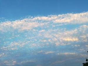 夕暮れ時の空