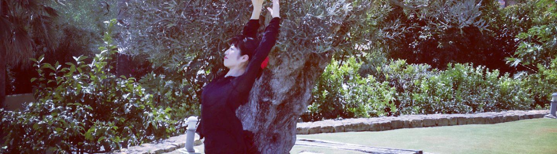オリーブの木の下で踊る中村明日香 I danced under the olive tree.