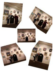 前田麻里さん写真展へ。素敵な絵画の数々を背に、麻里さんと。