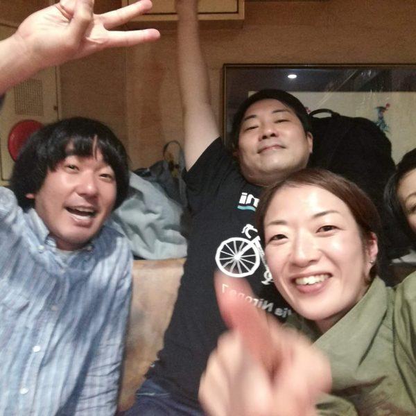 左から本多力さん、久保貫太郎さん、私、森谷ふみさん