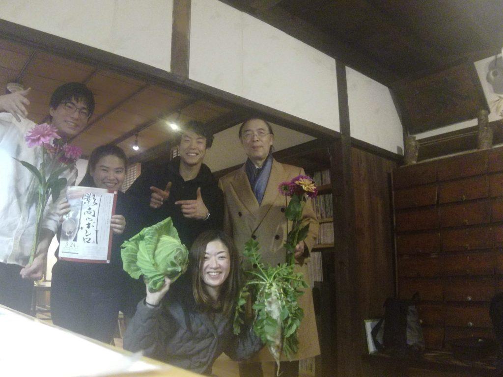 EMANONにて左からコミネス館長、川村さん、有村さん、湯澤さん