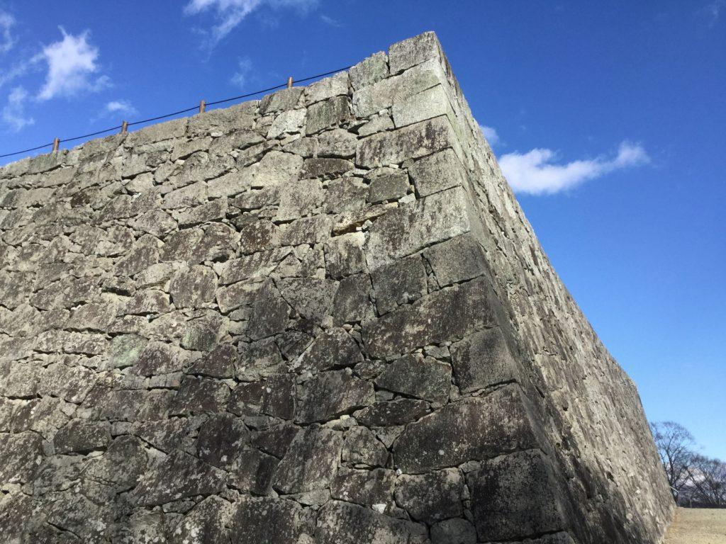 本丸の美しい石垣