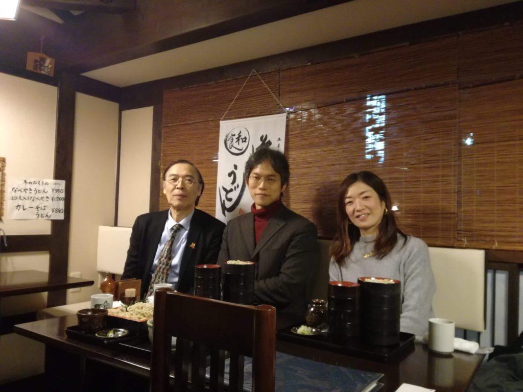 川島先生、館長と。