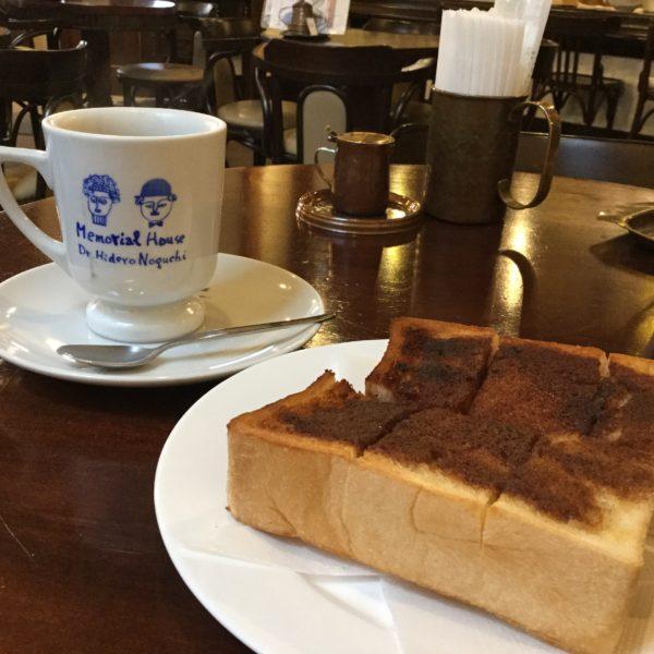 會津壱番館のシナモントーストとコーヒー
