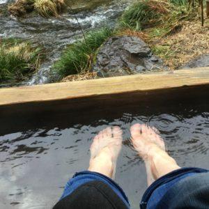 まずは足湯から。