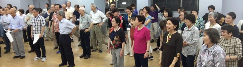 70、80代が多い合唱団。日に日にやる気が増してきています。