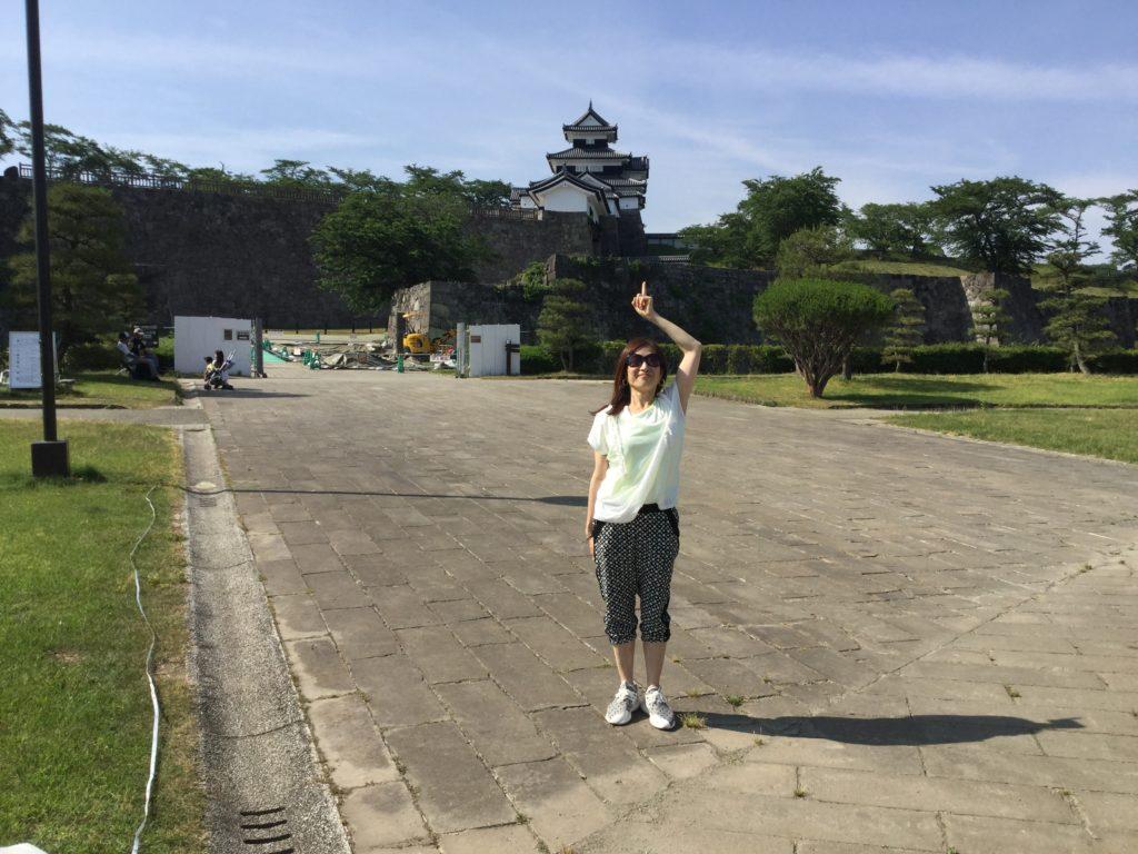 1日目の野外公演の会場、小峰城二の丸です。 当日はこの場所に能舞台が出現します。