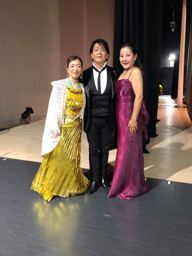中鉢さん、美奈子さんと終演後。